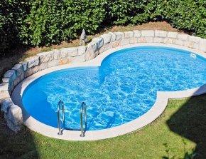 Staal inbouw zwembad 8 vorm