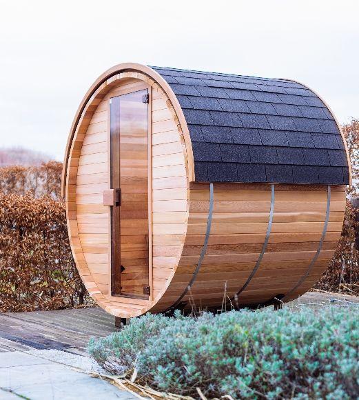 Afbeelding van Barrel infraroodcabine voor buiten