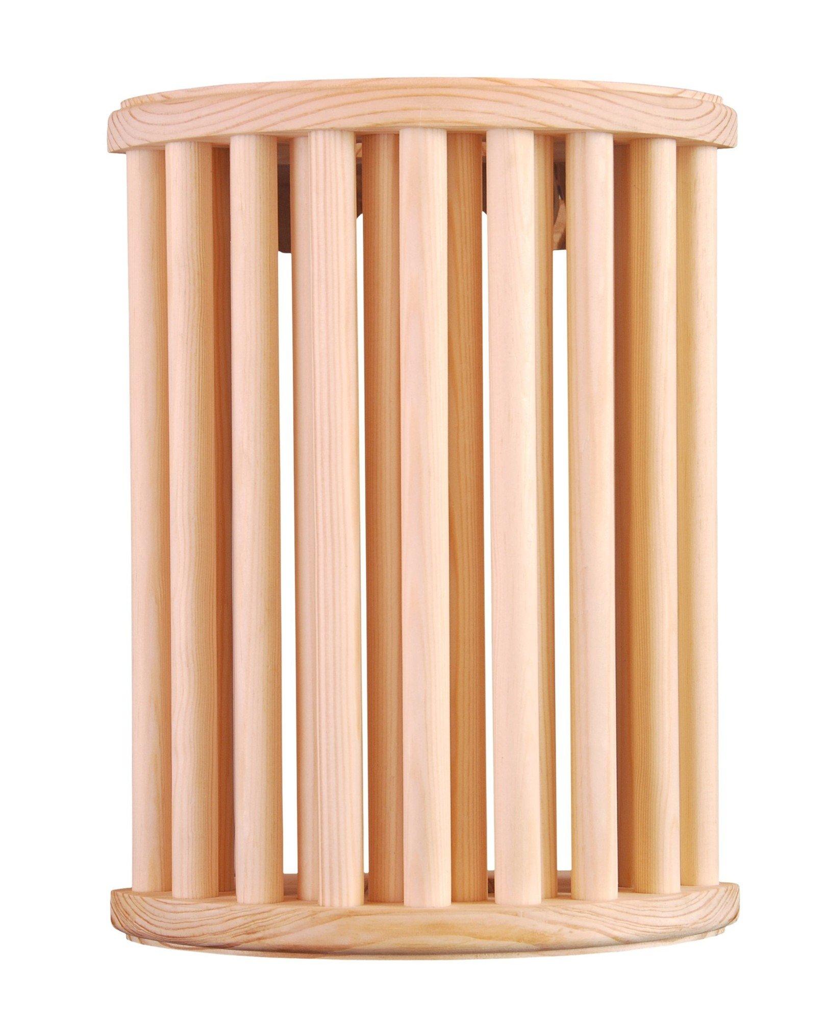 Afbeelding van Lampscherm sauna, lamellen, verticaal