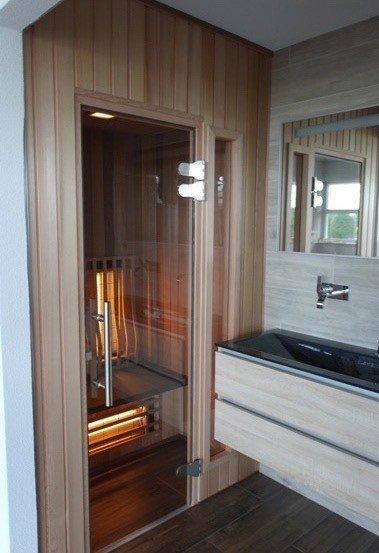 Afbeelding van Rhodos Infrarood Combi Sauna Hoek 150 x 150 cm