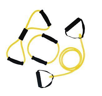 Afbeelding van Tunturi Tubing Set met Handgrepen Geel