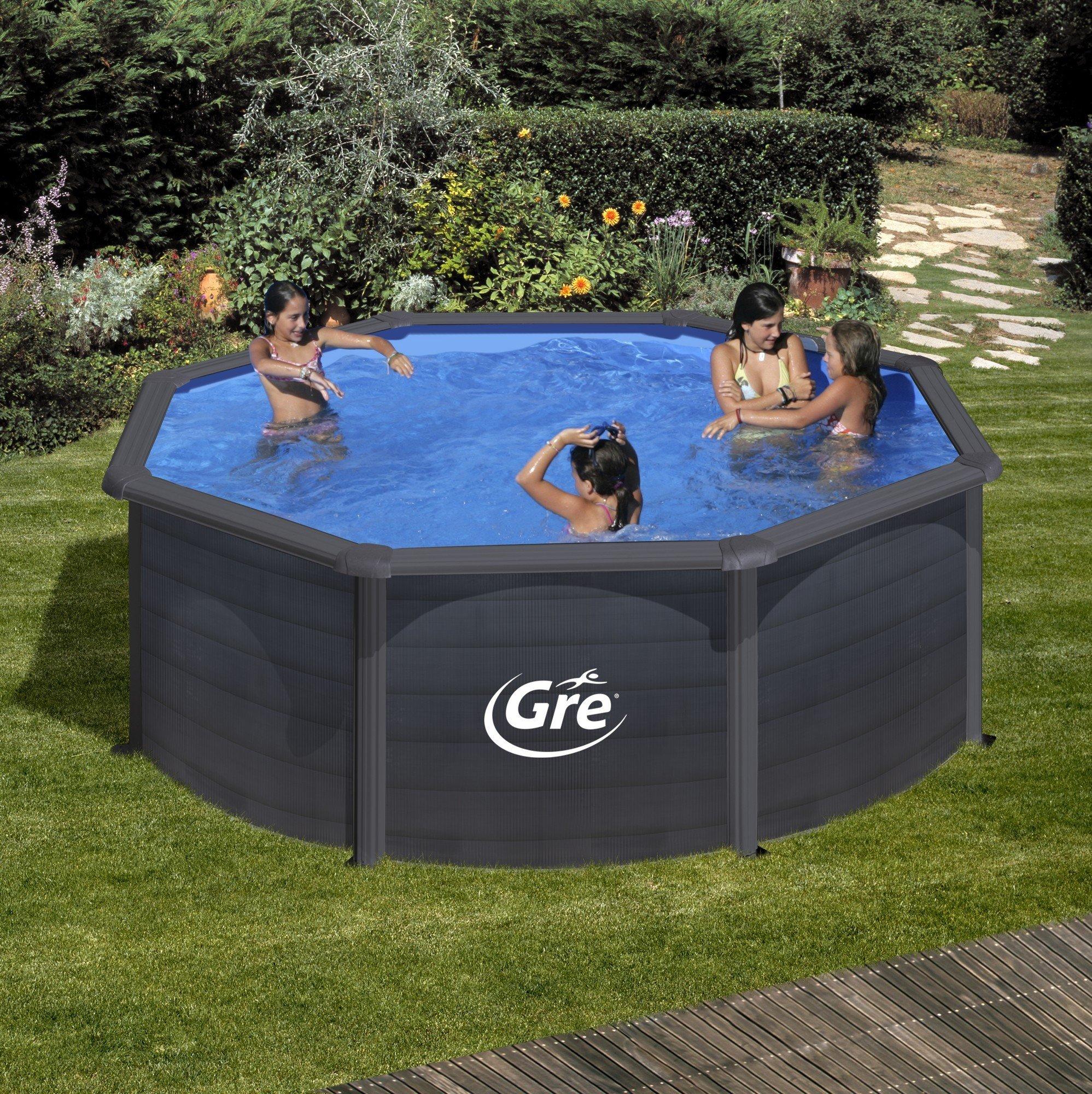 Afbeelding van Kea stalen zwembad - 350 x 120 cm - rond