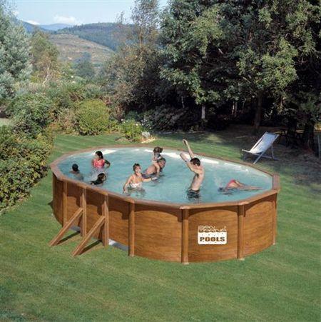 Afbeelding van Gré Pacific stalen zwembad - 730 x 375 x 120 cm