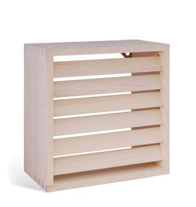 Afbeelding van Saunalamp Vierkant met lamellen, Heat treated UK