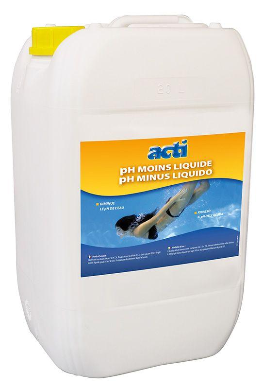 Afbeelding van ACTI Zwembad pH Minus Vloeibaar 20 Liter