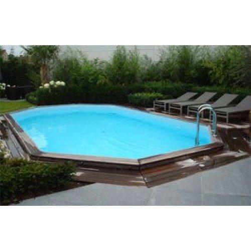 Gardipool Houten Zwembad OBLONG 3.90m x 6.20m, 1.20m hoog
