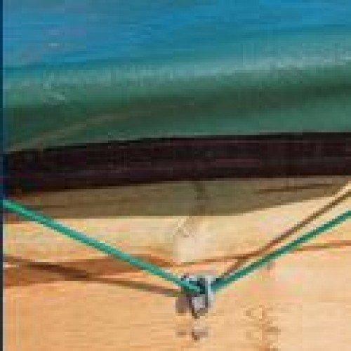 Cerland houten zwembad winterzeil Weva Rectangle 8x4 - groen