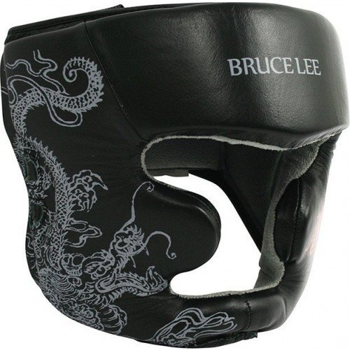 Tunturi Bruce Lee dragon deluxe hoofd protectie, leder