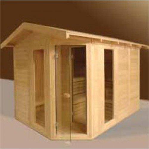 VSB Sauna Massive Outdoor 200 x 300 x 260 met Voorportaal en Zadeldak
