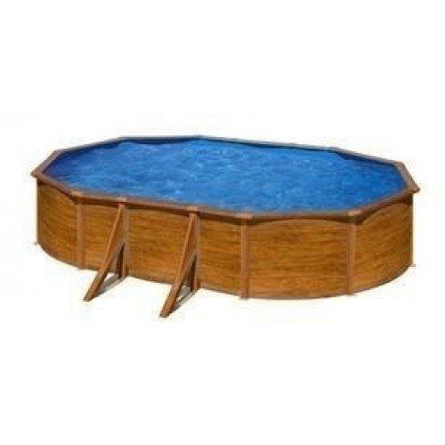 Gré Pacific stalen zwembad set - 610 x 375 x 120 cm