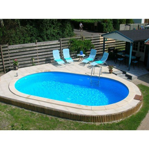 Happy Pool Ovaal Metalen Zwembad 486 x 250 cm (hoogte 150cm)