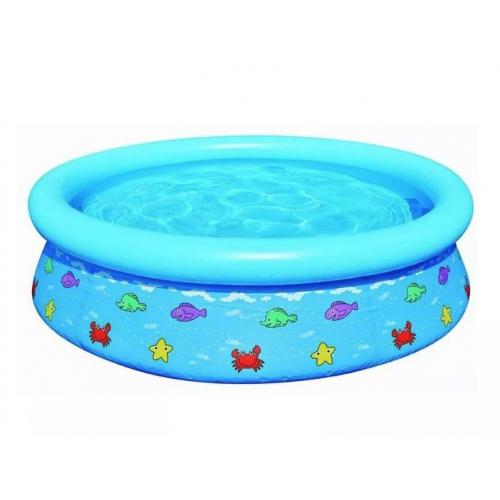 Kinderbad met opblaasbare rand