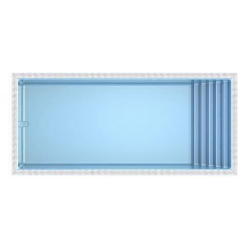Polyester zwembad Ocean-80 862 x 397 x 143 cm (+ Overloopgoot)