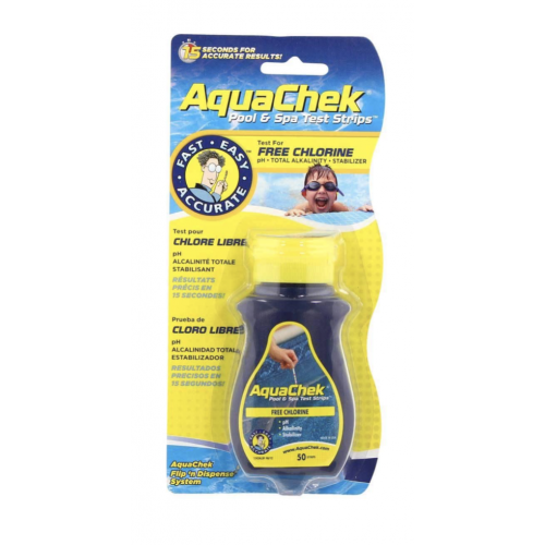 Aquachek 4-in-1 Teststrips (50 stuks)