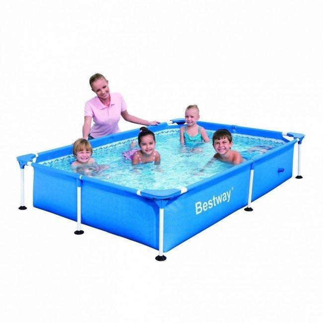 Bestway passaat zwembad 221 x 150 kopen bestel online for Rechthoekig zwembad