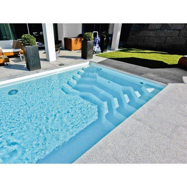 Polyester zwembad 900 x 377 x 153 cm kopen rhodos for Rechthoekig zwembad