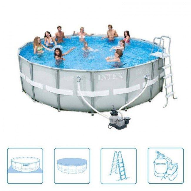 Intex zwembad Ultra Frame 549 kopen? - Rhodos-shop.nl
