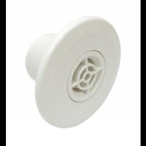Astral verstelbare inspuiter met rooster (Ø14/20/25 mm) voor beton - wit