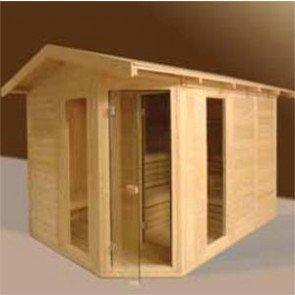 VSB Sauna Massive Outdoor 200 x 200 x 220 met Plat Dak