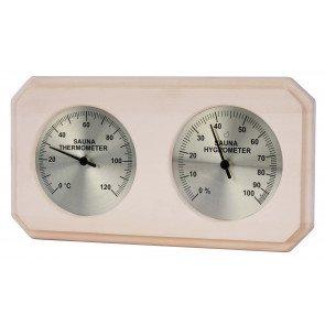Sauna thermo-hygrometer rechthoekig - Espen