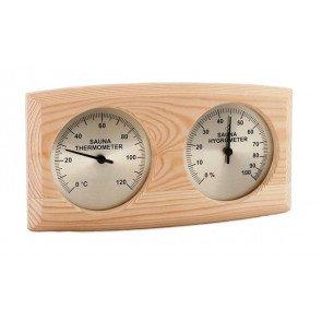 Sawo sauna thermo-hygrometer ovaal - Pine