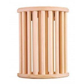 Sauna lampscherm 280 x 210 mm verticale lamellen - Pine