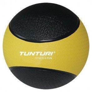 Tunturi Medicine Ball 1 kg Geel/Zwart