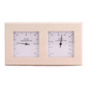 Sauna thermo-hygrometer 2-delig vierkant - Espen