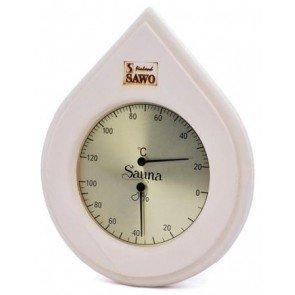 Sauna Thermo-Hygrometer, druppelvorm