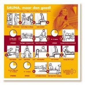 Saunabadreglement kleur professioneel