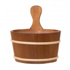 4Living houten sauna emmer (4 liter) met greep - Alder hout