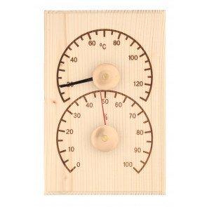 4Living sauna thermo-hygrometer - pine
