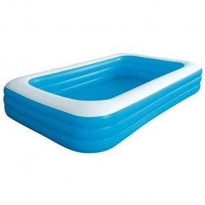 Groot opblaasbaar rechthoekig zwembad