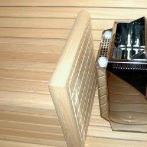 Ovenbeschermrek verwerkt als bank eind