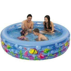 Opblaasbaar kinderzwembad aquarium - 152 x 50 cm