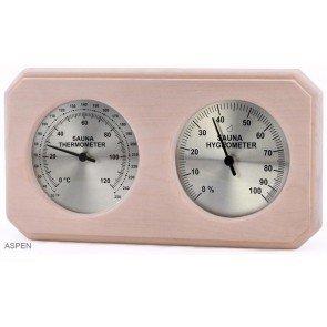Sauna Thermo-Hygrometer, rechthoekig (Espen)