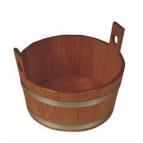 Sauna voetenbak Lariks, blank gelakt
