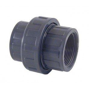 """PVC 3/3 koppeling 50 mm (lijmverbinding) x 1,5"""" binnendraad"""