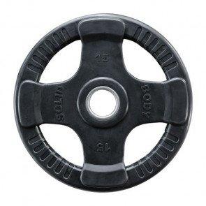 Body-Solid 50 mm olympische halterschijf rubber 4-grip - 1,25 kg