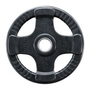 Body-Solid 50 mm olympische halterschijf rubber 4-grip - 10 kg