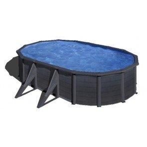 Gré Kea stalen zwembad set - 500 x 300 x 120 cm
