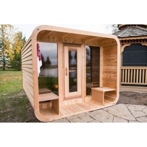 Dundalk Sauna Red Cedar Knotty Luna 244 x 244 cm