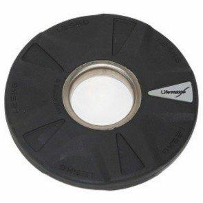 LifeMaxx LMX92 50 mm olympische halterschijf rubber 5-grip - 1,25 kg