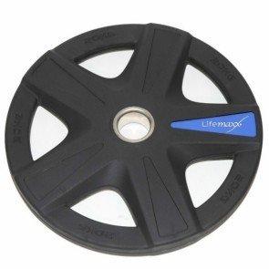 LifeMaxx LMX92 50 mm olympische halterschijf rubber 5-grip - 20 kg