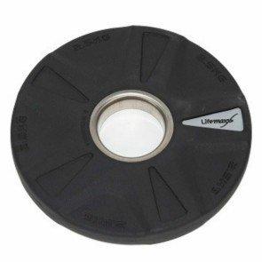 LifeMaxx LMX92 50 mm olympische halterschijf rubber 5-grip - 2,5 kg