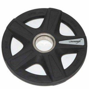 Lifemaxx LMX92 50 mm olympische halterschijf rubber 5-grip - 5 kg
