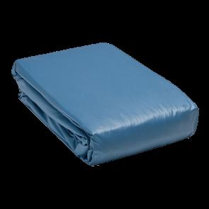 Zwembad liner ovaal 400 x 800 x 150 cm (0,6 mm) - blauw