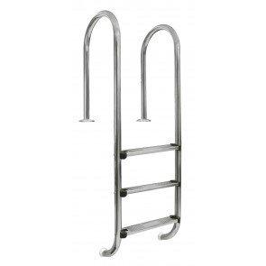 Rechte Zwembad Ladder 3 Treden Anti-Slip