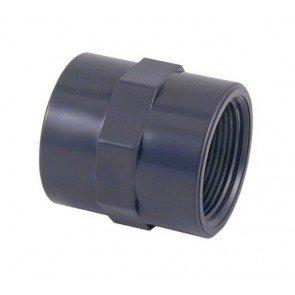 """PVC sok 50 mm x 1,5"""" binnendraad"""