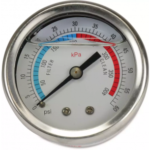 "Manometer met glycerine 0 - 60 PSI (1/4"" achteraansluiting)"